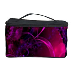 Fractal Using A Script And Coloured In Pink And A Touch Of Blue Cosmetic Storage Case
