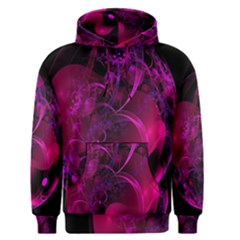 Fractal Using A Script And Coloured In Pink And A Touch Of Blue Men s Pullover Hoodie