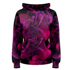 Fractal Using A Script And Coloured In Pink And A Touch Of Blue Women s Pullover Hoodie