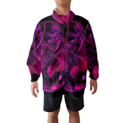 Fractal Using A Script And Coloured In Pink And A Touch Of Blue Wind Breaker (kids)