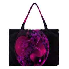 Fractal Using A Script And Coloured In Pink And A Touch Of Blue Medium Tote Bag