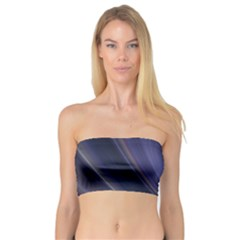 A Pruple Sweeping Fractal Pattern Bandeau Top