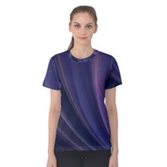 A Pruple Sweeping Fractal Pattern Women s Cotton Tee