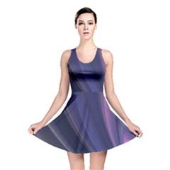 A Pruple Sweeping Fractal Pattern Reversible Skater Dress