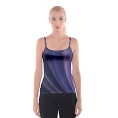 A Pruple Sweeping Fractal Pattern Spaghetti Strap Top