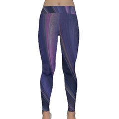 A Pruple Sweeping Fractal Pattern Classic Yoga Leggings