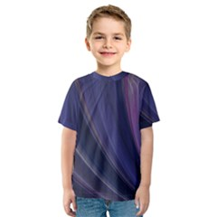A Pruple Sweeping Fractal Pattern Kids  Sport Mesh Tee