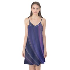 A Pruple Sweeping Fractal Pattern Camis Nightgown