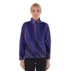 A Pruple Sweeping Fractal Pattern Winterwear