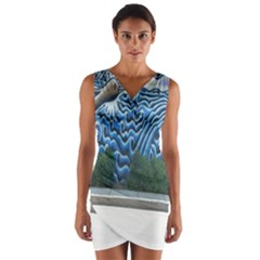 Mural Wall Located Street Georgia Usa Wrap Front Bodycon Dress
