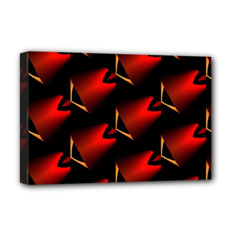 Fractal Background Red And Black Deluxe Canvas 18  X 12
