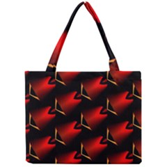 Fractal Background Red And Black Mini Tote Bag