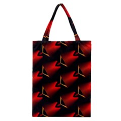 Fractal Background Red And Black Classic Tote Bag