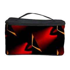 Fractal Background Red And Black Cosmetic Storage Case