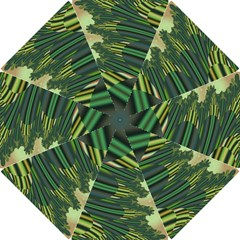 A Feathery Sort Of Green Image Shades Of Green And Cream Fractal Hook Handle Umbrellas (Small)