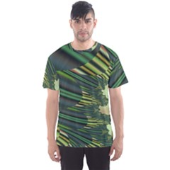 A Feathery Sort Of Green Image Shades Of Green And Cream Fractal Men s Sport Mesh Tee