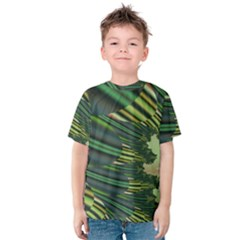 A Feathery Sort Of Green Image Shades Of Green And Cream Fractal Kids  Cotton Tee