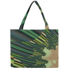 A Feathery Sort Of Green Image Shades Of Green And Cream Fractal Mini Tote Bag