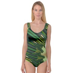 A Feathery Sort Of Green Image Shades Of Green And Cream Fractal Princess Tank Leotard