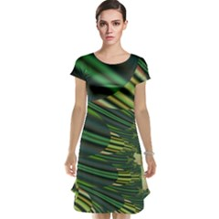 A Feathery Sort Of Green Image Shades Of Green And Cream Fractal Cap Sleeve Nightdress
