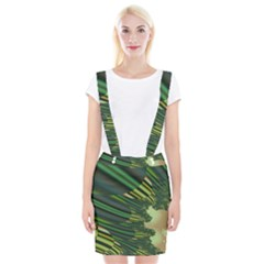 A Feathery Sort Of Green Image Shades Of Green And Cream Fractal Suspender Skirt