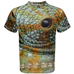 Macro Of The Eye Of A Chameleon Men s Cotton Tee