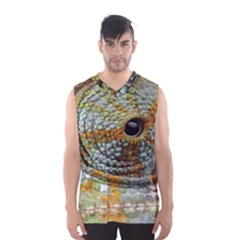 Macro Of The Eye Of A Chameleon Men s Basketball Tank Top
