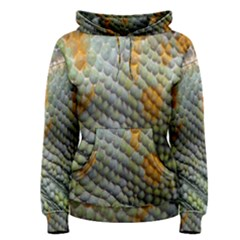 Macro Of Chameleon Skin Texture Background Women s Pullover Hoodie