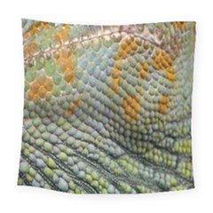 Macro Of Chameleon Skin Texture Background Square Tapestry (large)