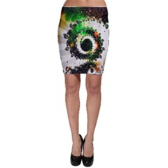 Fractal Universe Computer Graphic Bodycon Skirt