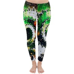 Fractal Universe Computer Graphic Classic Winter Leggings
