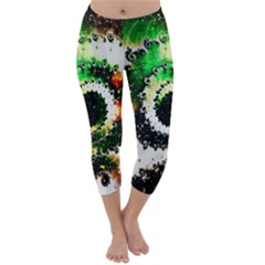 Fractal Universe Computer Graphic Capri Winter Leggings