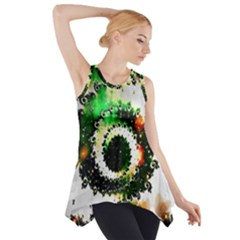 Fractal Universe Computer Graphic Side Drop Tank Tunic