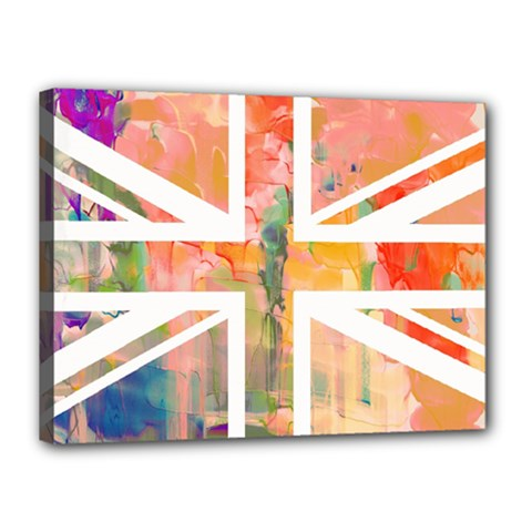 Union Jack Abstract Watercolour Painting Canvas 16  X 12