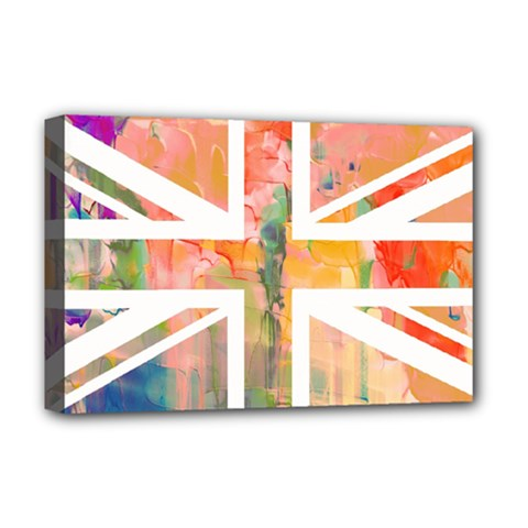 Union Jack Abstract Watercolour Painting Deluxe Canvas 18  x 12