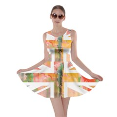 Union Jack Abstract Watercolour Painting Skater Dress
