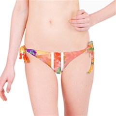 Union Jack Abstract Watercolour Painting Bikini Bottom