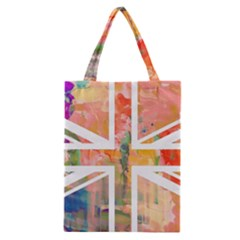 Union Jack Abstract Watercolour Painting Classic Tote Bag