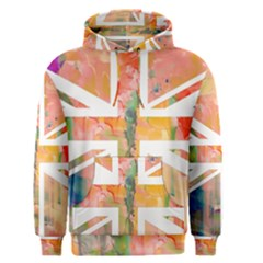 Union Jack Abstract Watercolour Painting Men s Pullover Hoodie