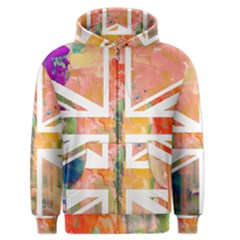 Union Jack Abstract Watercolour Painting Men s Zipper Hoodie