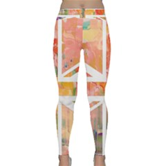 Union Jack Abstract Watercolour Painting Classic Yoga Leggings