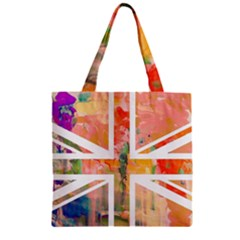 Union Jack Abstract Watercolour Painting Zipper Grocery Tote Bag