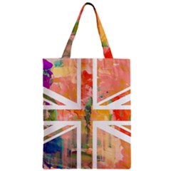 Union Jack Abstract Watercolour Painting Zipper Classic Tote Bag