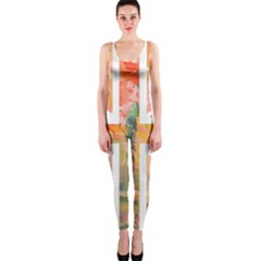 Union Jack Abstract Watercolour Painting Onepiece Catsuit