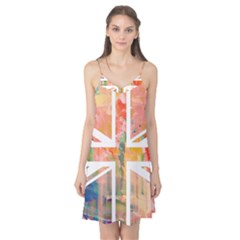 Union Jack Abstract Watercolour Painting Camis Nightgown