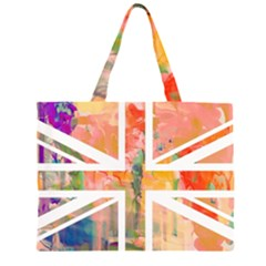 Union Jack Abstract Watercolour Painting Large Tote Bag