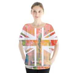Union Jack Abstract Watercolour Painting Blouse