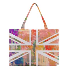 Union Jack Abstract Watercolour Painting Medium Tote Bag