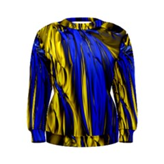 Blue And Gold Fractal Lava Women s Sweatshirt