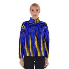 Blue And Gold Fractal Lava Winterwear